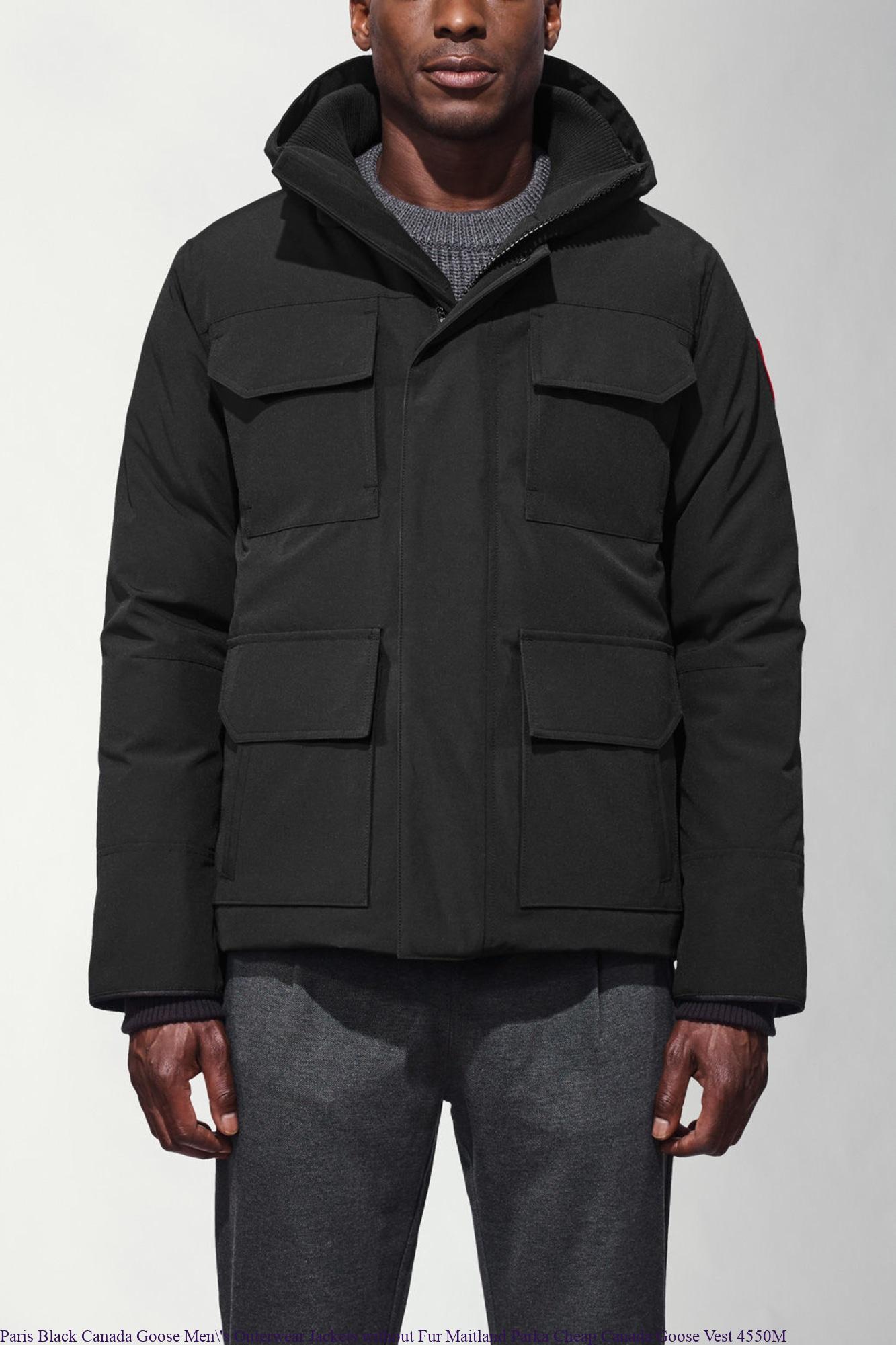 Paris Black Canada Goose Men S Outerwear Jackets Without
